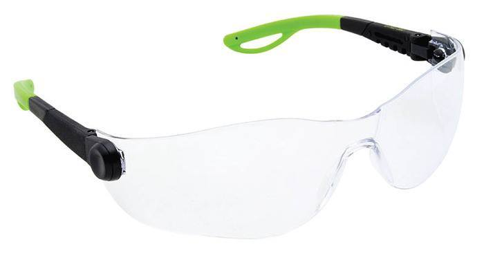 SAFETY GLASSES, FRAMELESS, CLEAR