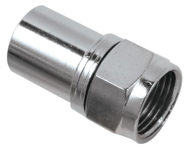 CONNECTOR,F CRIMP-RG6 Q (10 PAK)