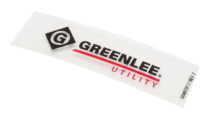DECAL,GREENLEE UTILITY (H6400C)