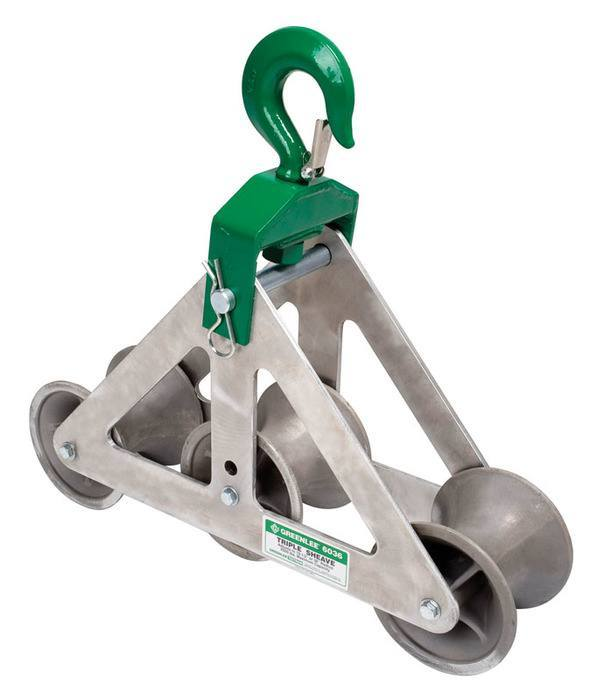 SHEAVE-HOOK TRIPLE (6036) - Greenlee -Faster, Safer, Easier ...