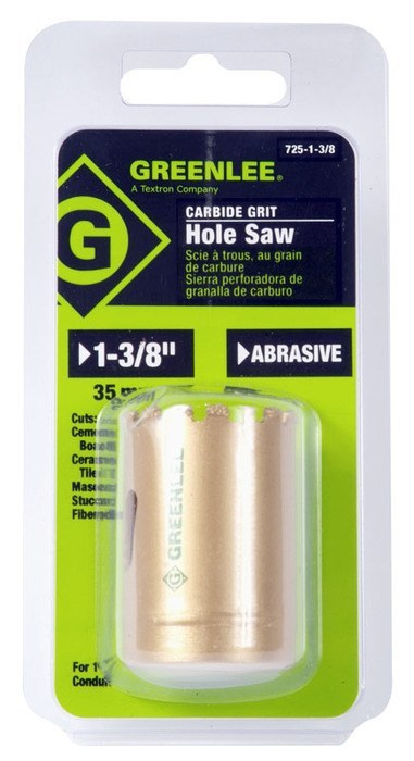 "HOLESAW-1-3/8""PKGD.CARBIDE GRIT"