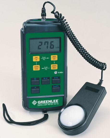 METER LIGHT DIGITAL 93 172 Greenlee Faster Safer Easier 783310060604