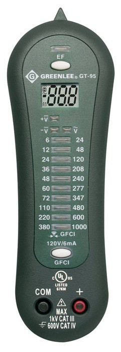TESTER, VOLTAGE-LCD GFCI (GT-95)