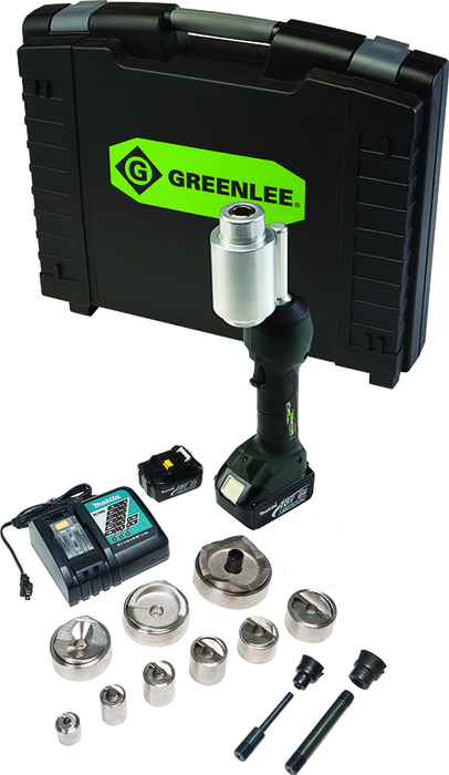 """INTELLI-PUNCH&#0153 11-TON TOOL WITH SLUGBUSTER&#174 SPEEDPUNCH&#174 KNOCKOUTS 1/2"""" TO 3"""" AND 4"""""""