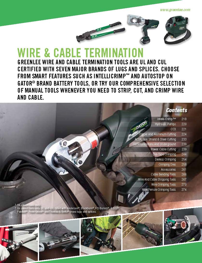 Greenlee Wire Pulling Tools Catalog - WIRE Center •