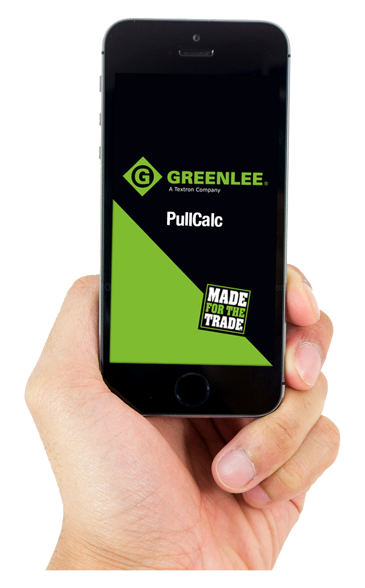 Pullcalcphone2g now available for download greenlees new pullcalc app is the only pulling calculator on the market that finds the approximate pull force needed to install greentooth Images