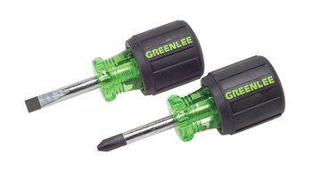 SCREWDRIVER SET,STUBBY,2PC