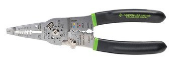 "Stainless Steel 7.5"" Wire Stripper/Cutter/Crimper"