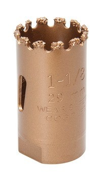 "HOLESAW-1-1/8""PKGD.CARBIDE GRIT"