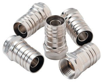 CONN F RG6 HEX CRIMP 10-PACK